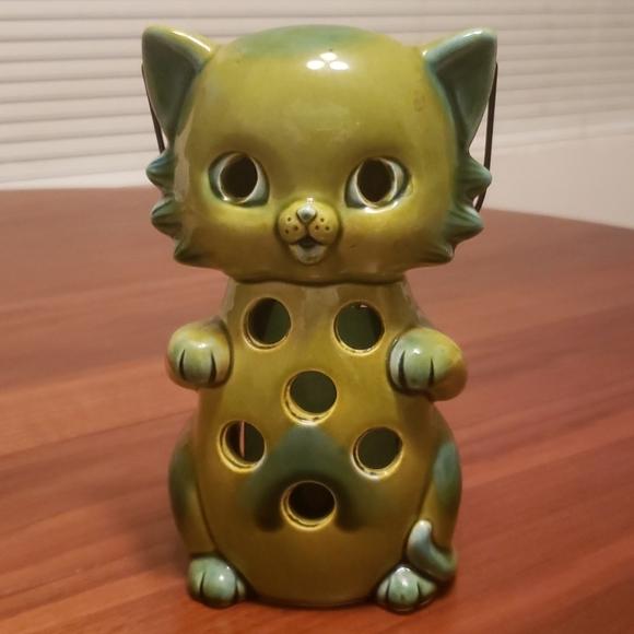 Vintage Cat Candle Lantern